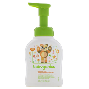 BabyGanics Foaming Hand Sanitizer Alcohol Free Mandarin 8.45 fl oz (250 ml)