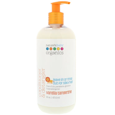 Nature's Baby Organics, Conditioner & Detangler, Vanilla Tangerine, 16 fl oz (473.2 ml)