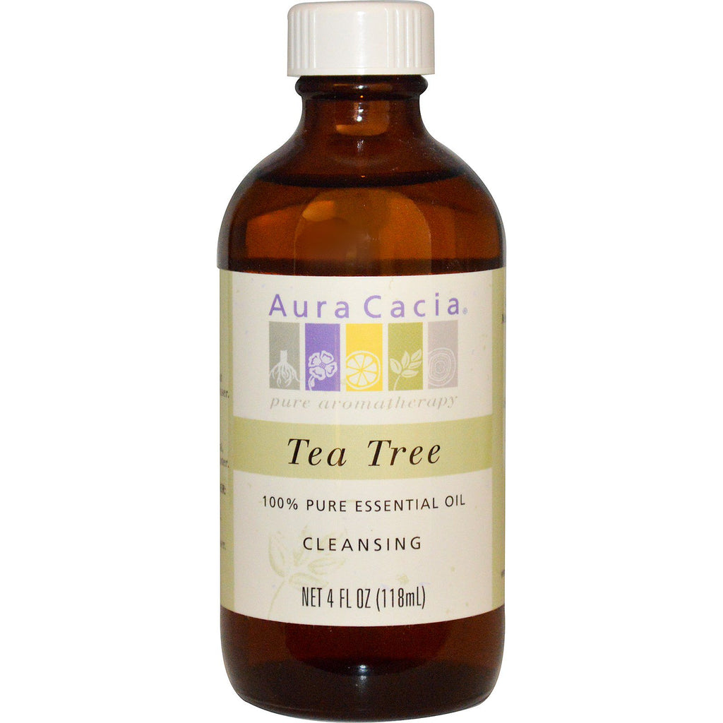 Aura Cacia, 100% Pure Essential Oil, Tea Tree, 4 fl oz (118 ml)