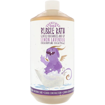 Everyday Shea Bubble Bath Gentle For Babies And Up Lemon Lavender 32 fl oz (950 ml)