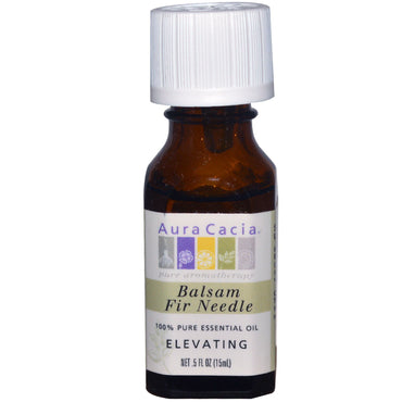 Aura Cacia, 100% Pure Essential Oil, Balsam Fir Needle, Elevating, .5 fl oz (15 ml)