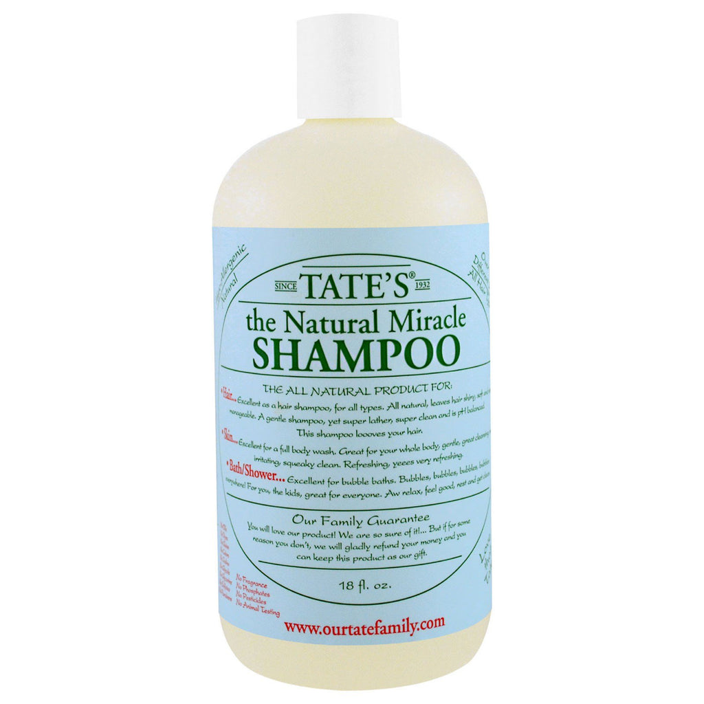 Tate's The Natural Miracle Shampoo 18 fl oz