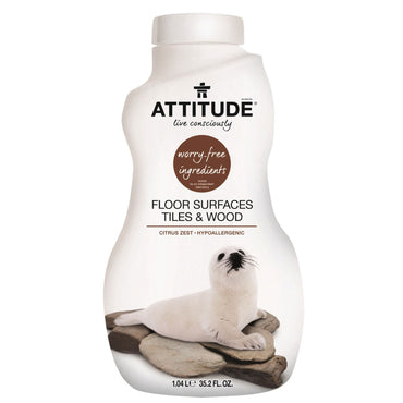 ATTITUDE, Floor Surfaces Tiles & Wood, Citrus Zest, 35.2 fl oz (1.04 l)