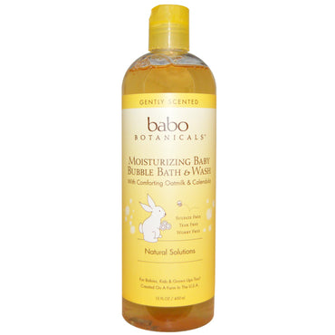 Babo Botanicals Moisturizing Bubble Bath & Wash Oatmilk Calendula 15 fl oz (450 ml)