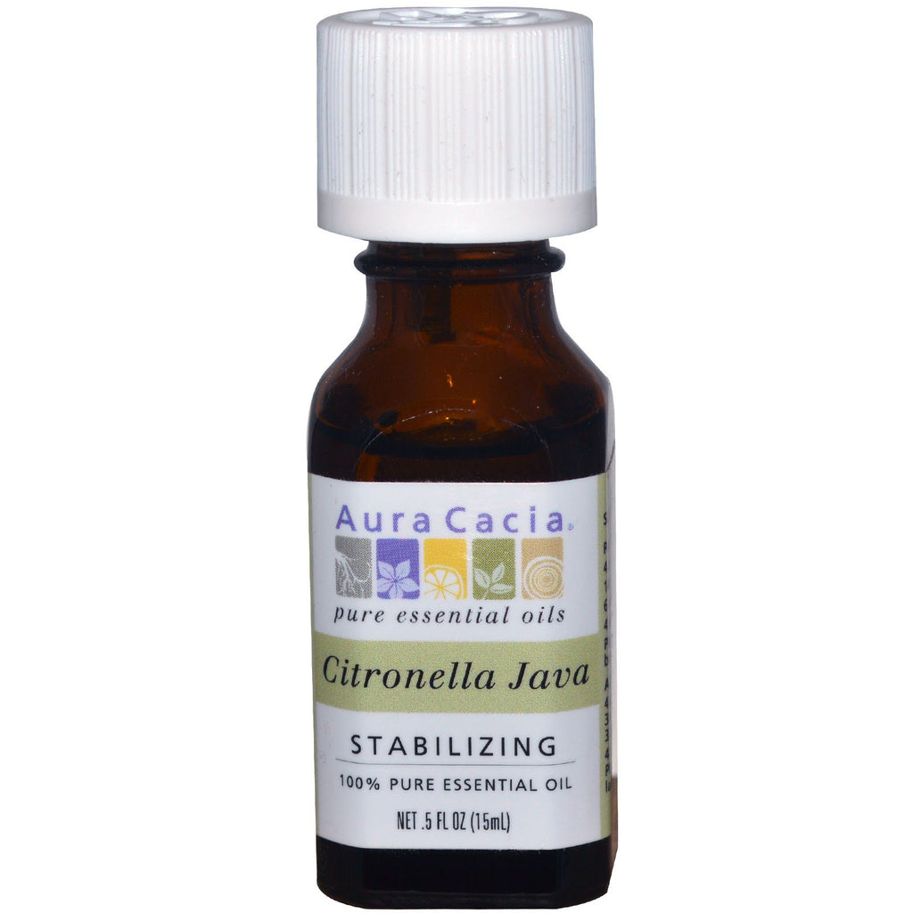 Aura Cacia, 100% Pure Essential Oil, Citronella Java, .5 fl oz (15 ml)