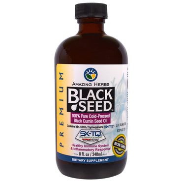 Amazing Herbs, Black Seed, 100% Pure Cold-Pressed Black Cumin Seed Oil, 8 fl oz (240 ml)
