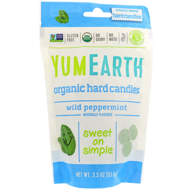 YumEarth, Organic Hard Candies, Wild Peppermint, 3.3 oz (93.6 g)