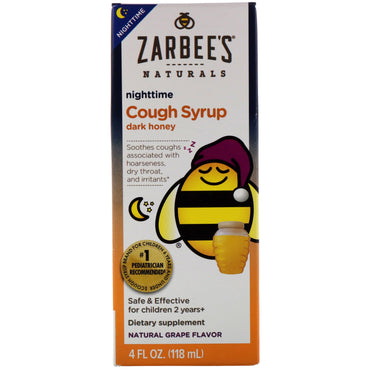 Zarbee's Children's Nighttime Cough Syrup Natural Grape Flavor 4 fl oz (118 ml)