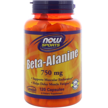 Now Foods, Sports, Beta-Alanine, 750 mg, 120 Capsules