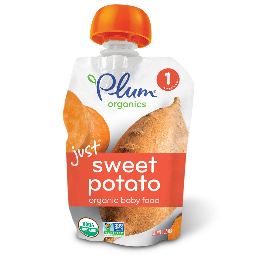 Plum Organics Organic Baby Food Stage 1 Just Sweet Potato 3 oz (85 g)