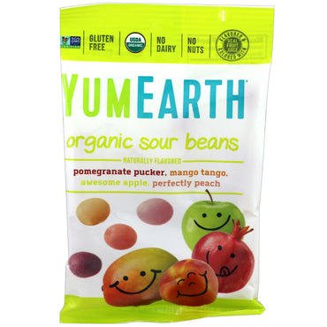 YumEarth, Organic Sour Beans, 12 Packs, 2.5 oz (71 g) Each