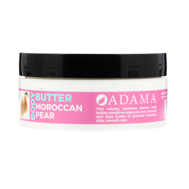 Zion Health, Adama, Body Butter with Argan Oil, Moroccan Pear, 4 oz (118 g)