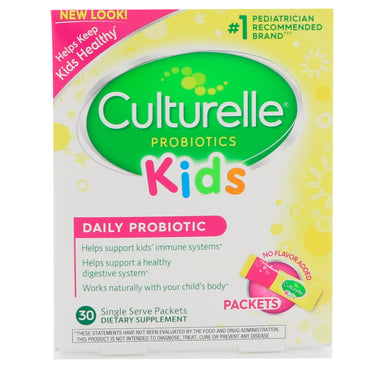Culturelle, Kids, Daily Probiotic, Unflavored, 30 Single Serve Packets