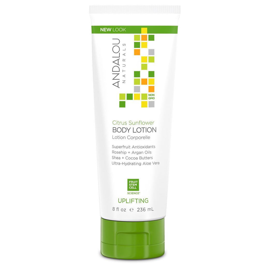 Andalou Naturals, Body Lotion, Citrus Sunflower, Uplifting, 8 fl oz (236 ml)