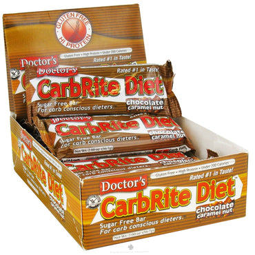 Universal Nutrition Doctor's CarbRite Diet Chocolate Caramel Nut 12 Bars 2.0 oz (56.7 g) Each