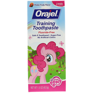Orajel, My Little Pony Training Toothpaste, Flouride Free, Pinkie Fruity Flavor, 1.5 oz (42.5 g)
