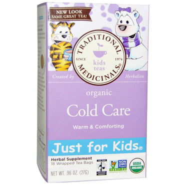 Traditional Medicinals Just for Kids Organic Cold Care Naturally Caffeine Free Herbal Tea 18 Tea Bags .96 oz (27 g)