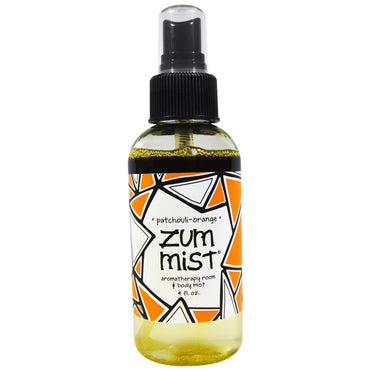 Indigo Wild, Zum Mist, Aromatherapy Room & Body Mist, Patchouli-Orange, 4 fl oz