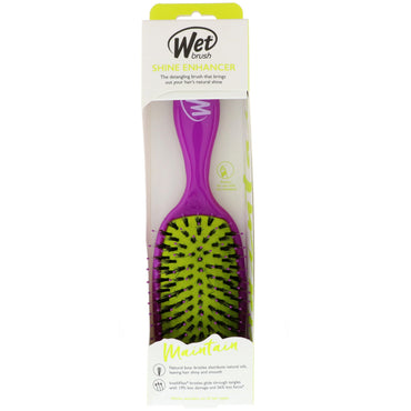 Wet Brush, Shine Enhancer Brush, Maintain, Purple, 1 Brush