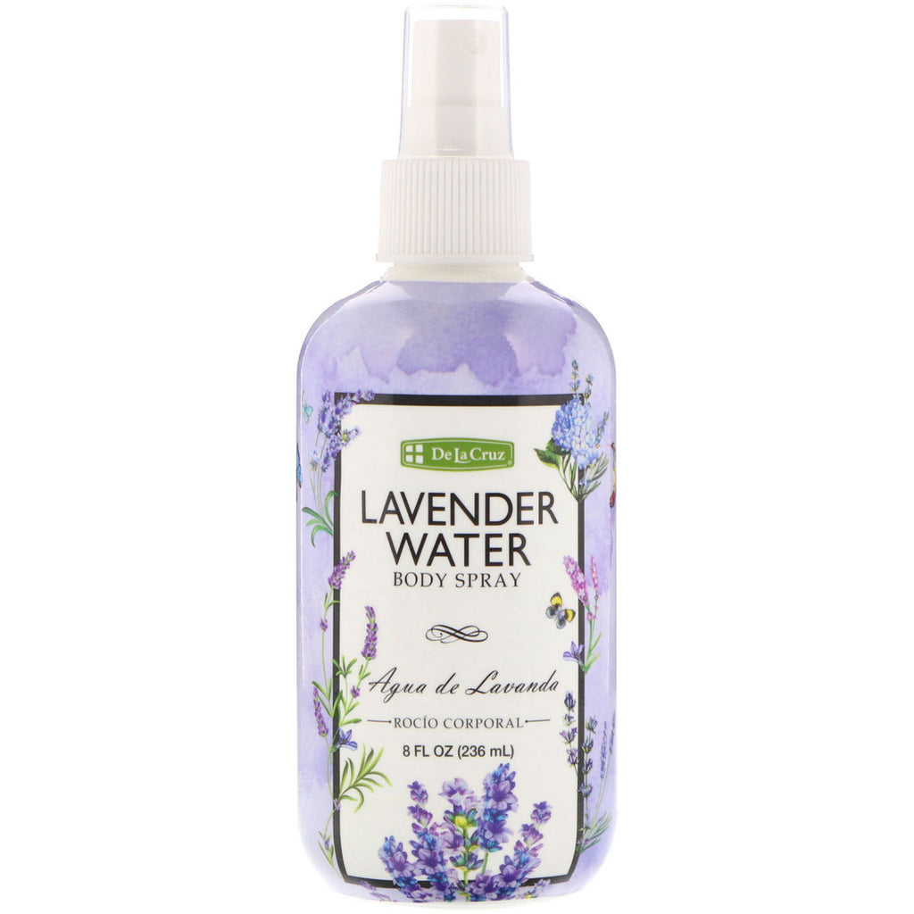 De La Cruz, Lavender Water Body Spray, 8 fl oz (236 ml)