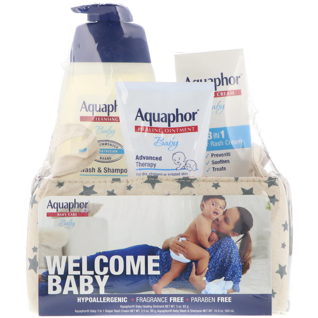 Aquaphor Baby Care Welcome Baby 3 Piece Set Large 3 Pieces