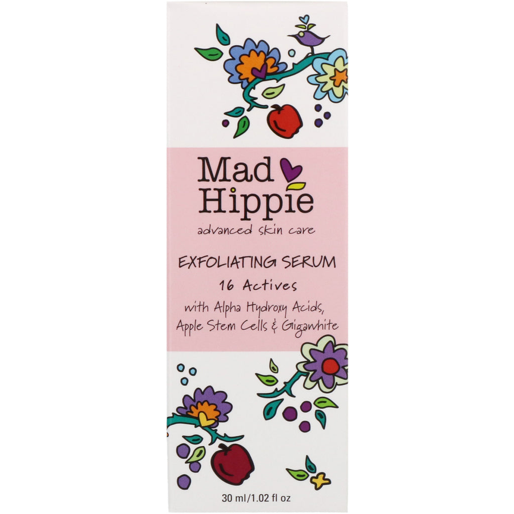 Mad Hippie Skin Care Products, Exfoliating Serum, 16 Actives, 1.02 fl oz (30 ml)