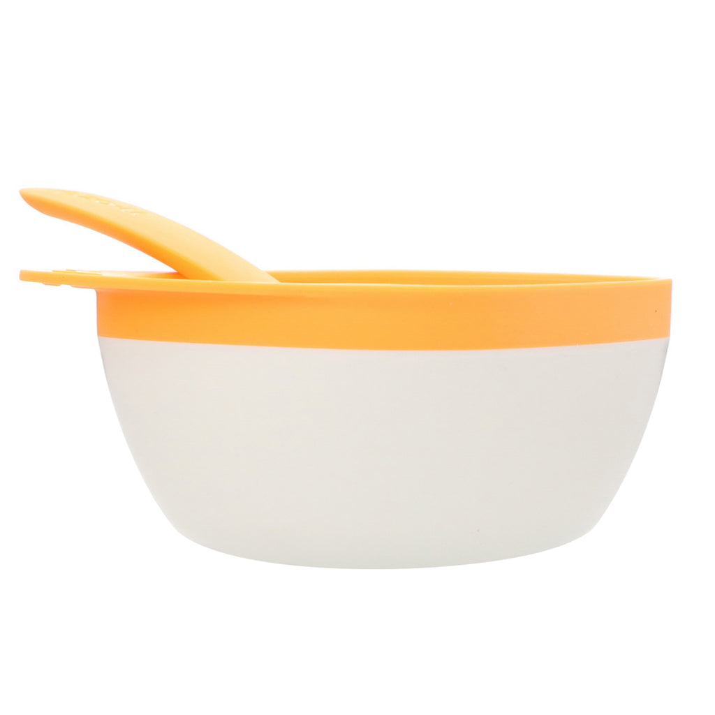 Zoli, Mash, Bowl & Spoon Kit, +6mo, Orange, 1 Bowl + 1 Spoon