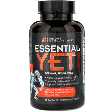 FURIOUS FORMULATIONS Essential Yeti For Hair Skin & Nails 60 Capsules