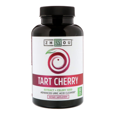 Zhou Nutrition, Tart Cherry Extract + Celery Seed, 60 Veggie Capsules