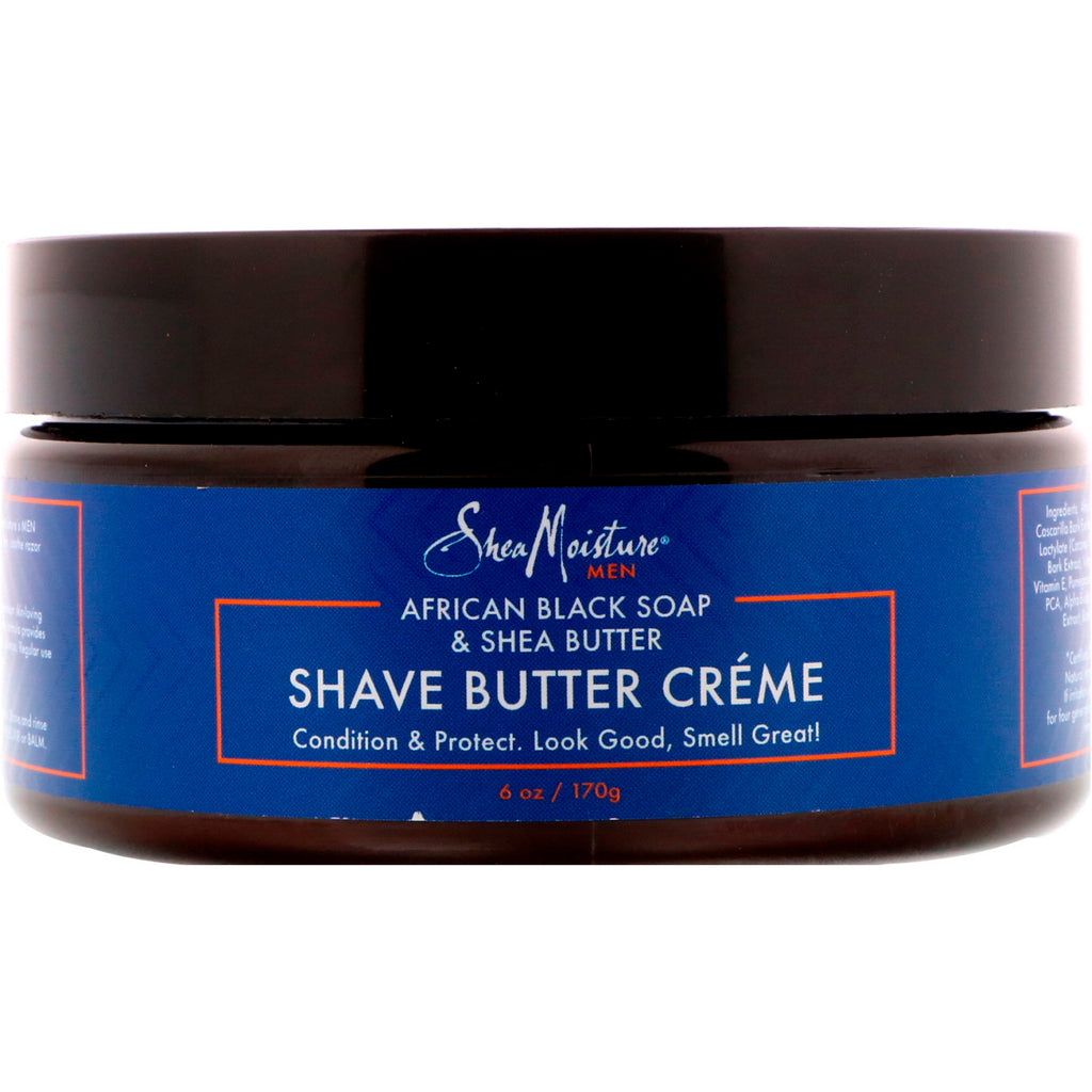Shea Moisture, African Black Soap & Shea Butter, Shave Butter Creme, 6 oz (170 g)