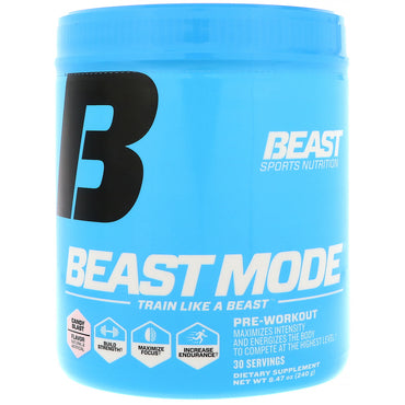 Beast Sports Nutrition, Beast Mode, Pre-Workout, Candy Blast, 8.47 oz (240 g)