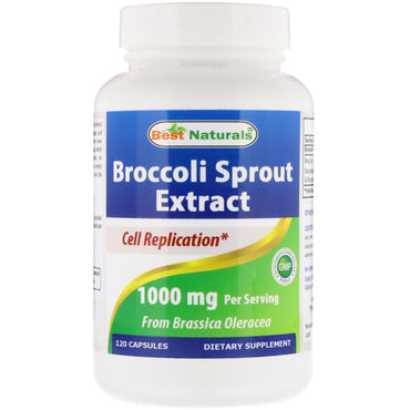Best Naturals, Broccoli Sprout Extract, 1000 mg, 120 Capsules