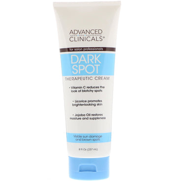 Advanced Clinicals, Dark Spot Therapeutic Cream, 8 fl oz (237 ml)