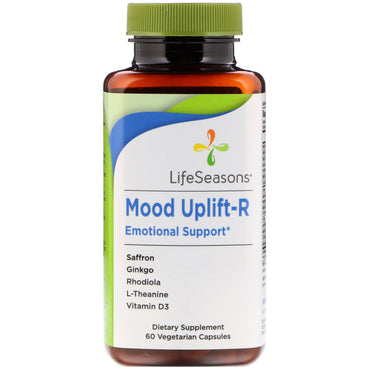 LifeSeasons, Mood Uplift-R Emotional Support, 60 Vegetarian Capsules