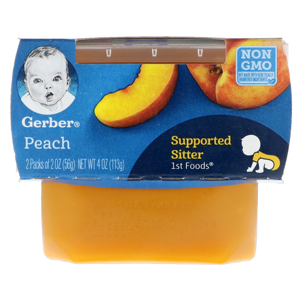 Gerber 1st Foods Peach 2 Pack 2 oz (56 g) Each
