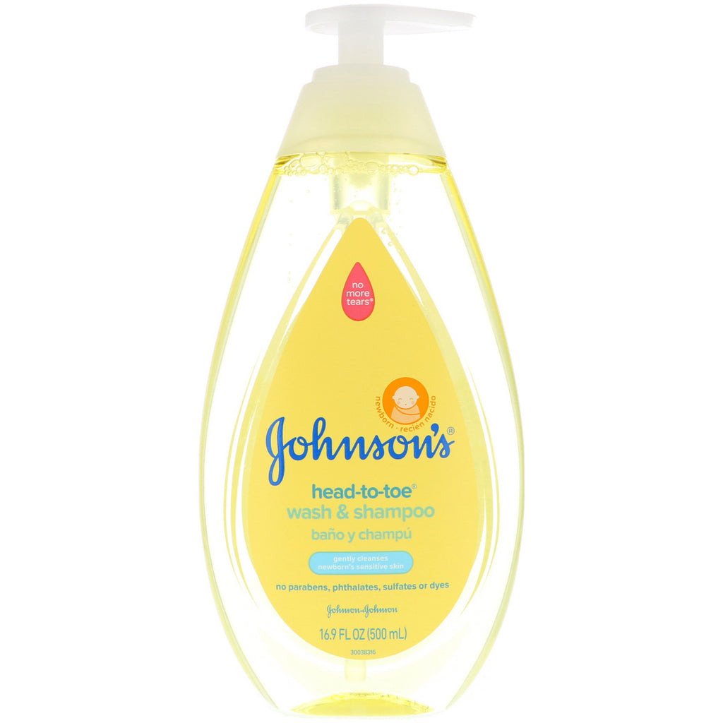 Johnson's, Head-To-Toe, Wash & Shampoo, 16.9 fl oz (500 ml)
