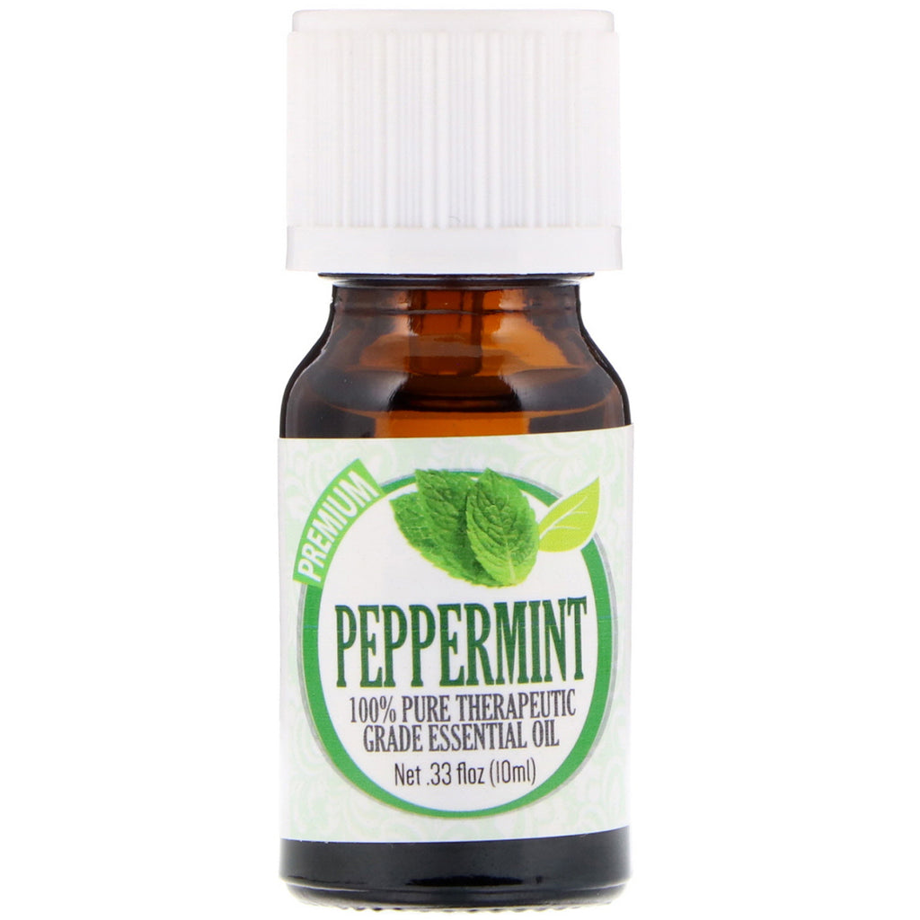 Healing Solutions, 100% Pure Therapeutic Grade Essential Oil, Peppermint, 0.33 fl oz (10 ml)