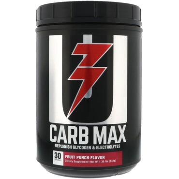 Universal Nutrition, Carb Max, Replenish Glycogen & Electrolytes, Fruit Punch, 1.39 lb (632 g)