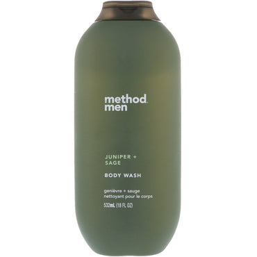 Method, Men, Body Wash, Juniper + Sage, 18 fl oz (532 ml)