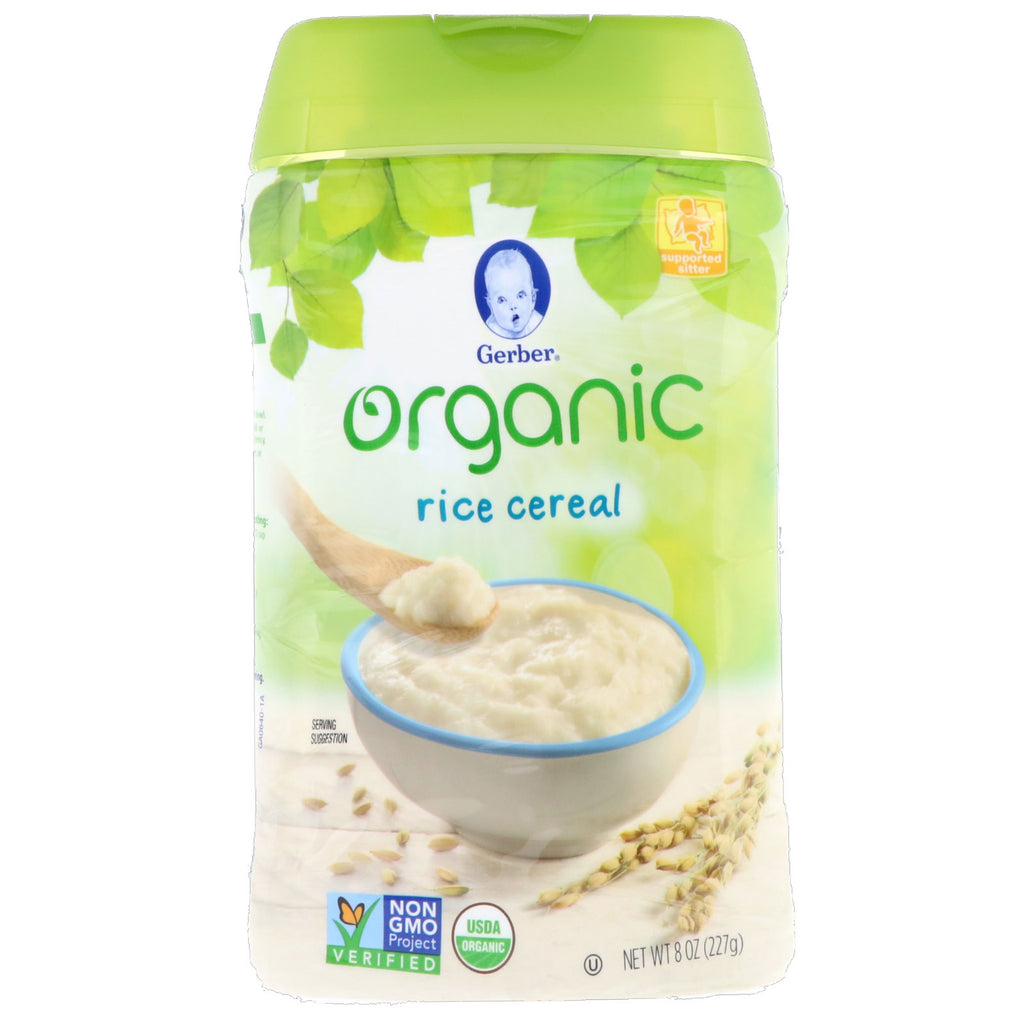 Gerber Organic Rice Cereal Supported Sitter 8 oz (227 g)