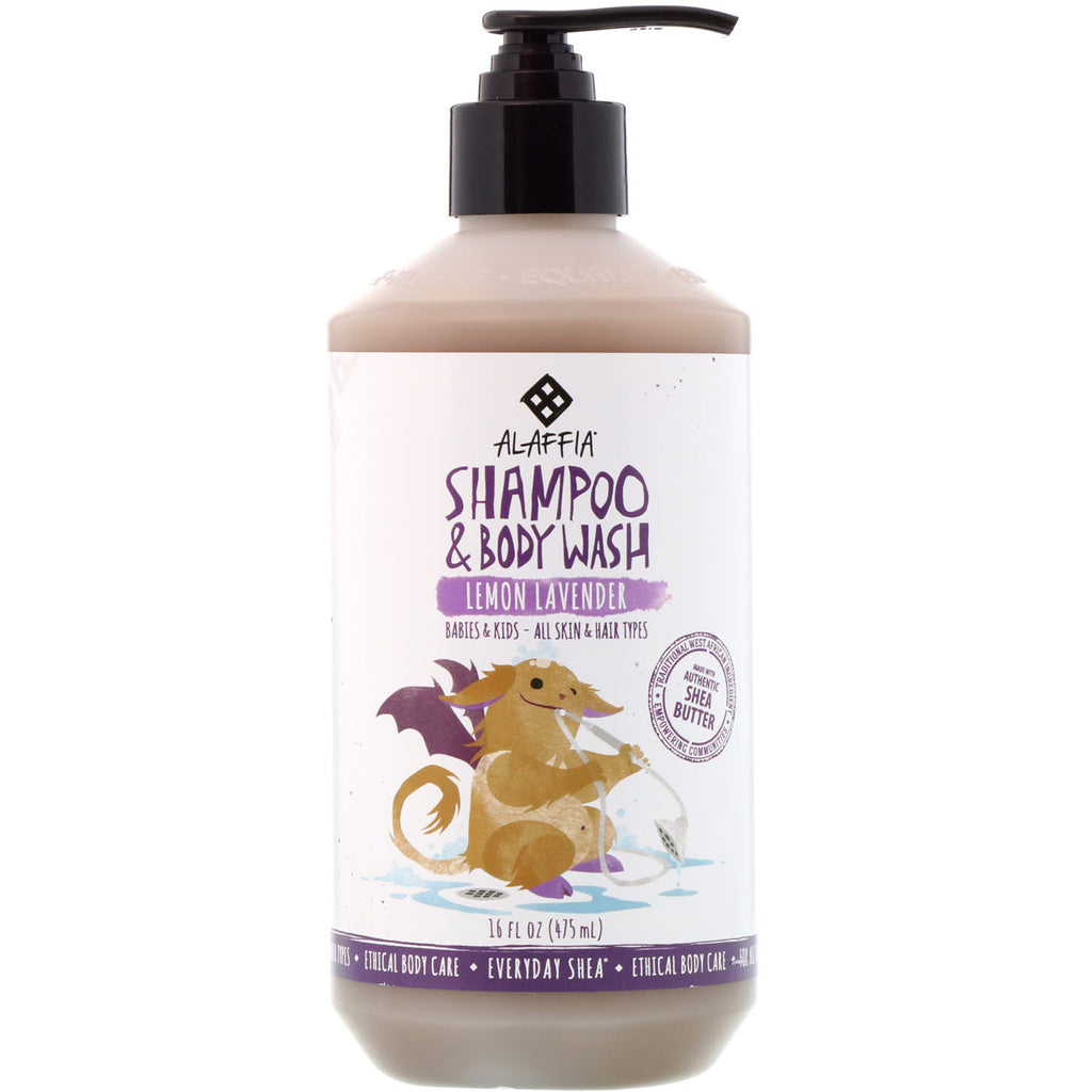 Everyday Shea Shampoo & Body Wash Gentle for Babies And Up Lemon Lavender 16 fl oz (475 ml)