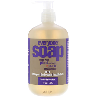 EO Products, Everyone Soap, 3 in 1, Lavender + Aloe, 16 fl oz (473 ml)