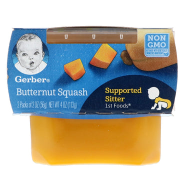 Gerber 1st Foods Butternut Squash 2 Pack 2 oz (56 g) Each