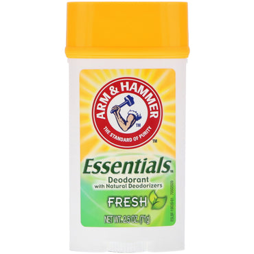 Arm & Hammer, Essentials Natural Deodorant, For Men and Women, Fresh, 2.5 oz (71 g)