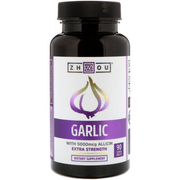 Zhou Nutrition, Garlic Extra Strength, 90 Coated Tablets