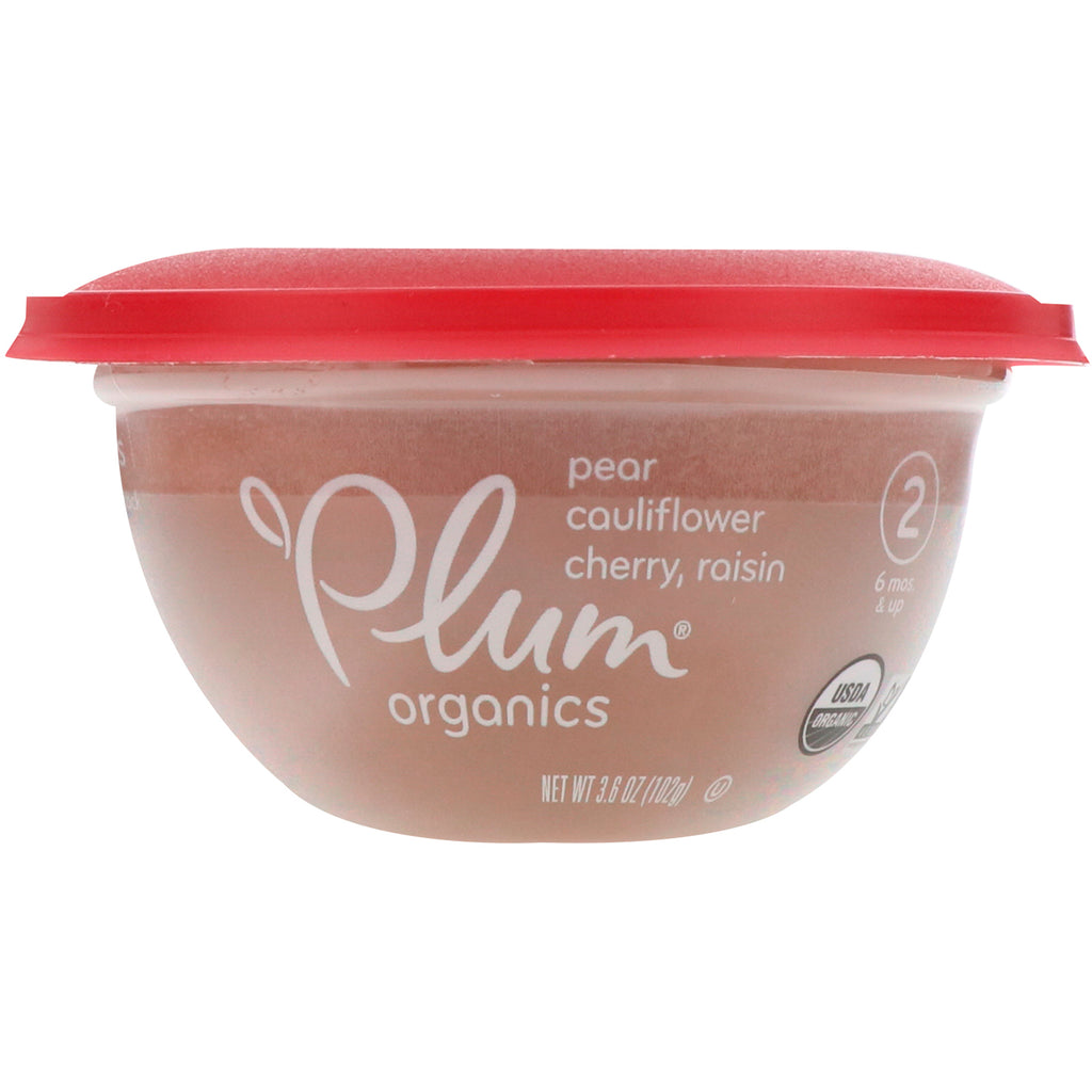 Plum Organics Baby Bowl Stage 2 Pear Cauliflower Cherry & Raisin 3.6 oz (102 g)