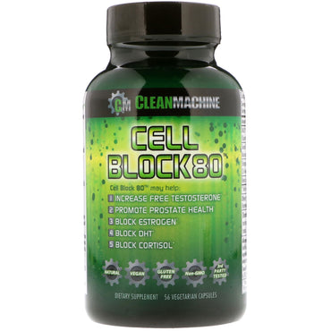 CLEAN MACHINE, Cell Block 80, 56 Vegetarian Capsules