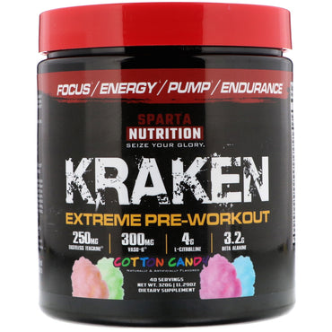 Sparta Nutrition, Kraken Pre-Workout, Cotton Candy, 11.29 oz (320 g)