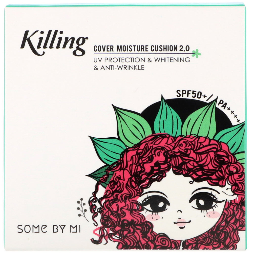 Some By Mi, Killing Cover Moisture Cushion 2.0, SPF 50+/PA++++, #21 Light Beige, 0.52 oz (15 g)