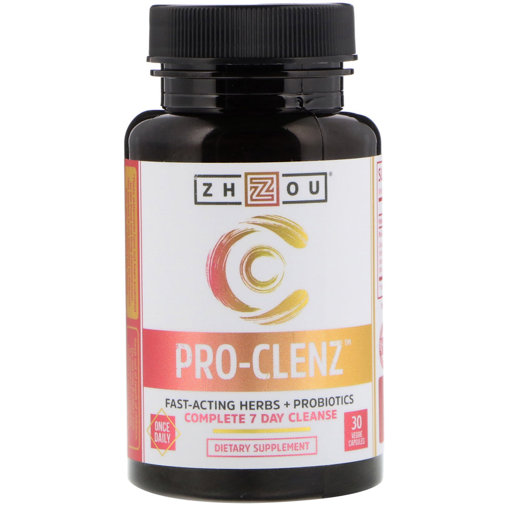 Zhou Nutrition, Pro-Clenz, Complete 7 Day Cleanse, 30 Veggie Caps